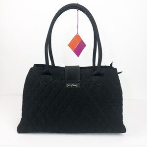 Vera Bradley Black Quilted Satchel / Shoulder Bag